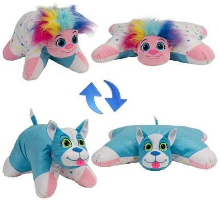 Подушка 1 Toy Вывернушка плюшевая Радужный Тролль Блестящий Щенок