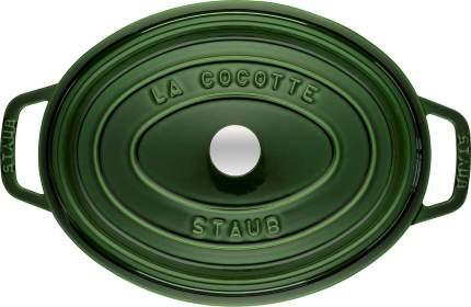 Кокот овальный, 31 см, 5,5 л, зеленый базилик