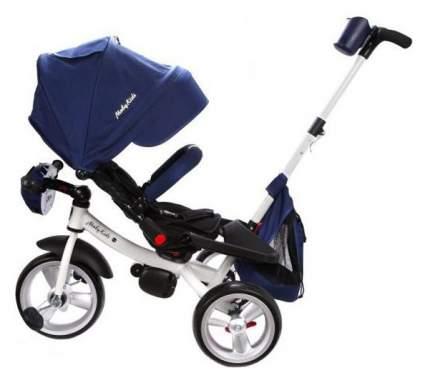 Велосипед детский трехколесный Moby Kids Leader Eva Car свет, звук Синий