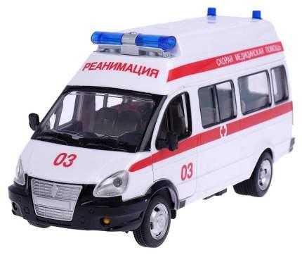 Инерционный микроавтобус PLAYSMART Скорая помощь (свет, звук), 1:29
