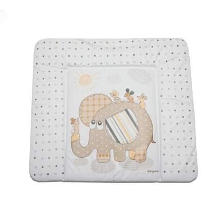 Матрас для пеленания Baby Care Элефант, 820х730х210, бежевый