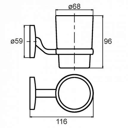 Стакан для зубных щеток Milardo Cadiss CADSMG0M45