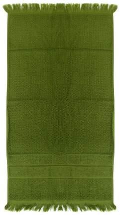 Полотенце для рук с бахромой оливково-зеленого цвета Essential 50х90