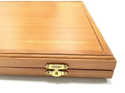Набор пастели полутвёрдой квадратной в деревянной коробке GALLERY Artists` Semi-Hard 96 цв