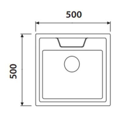 Мойка для кухни из нержавеющей стали Kaiser KSS-5050