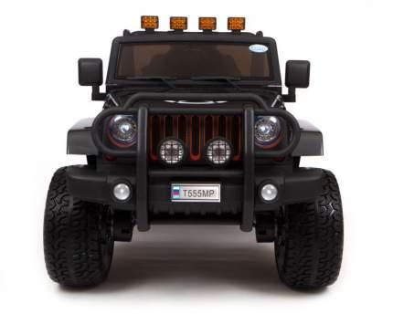 Детский электромобиль Barty Jeep Wrangler Т555МР полный привод (4х4), Чёрный