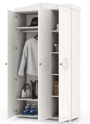 Шкаф 3-х створчатый комбинированный Мебельный Двор Онега ШК-33 белый 120х50х224
