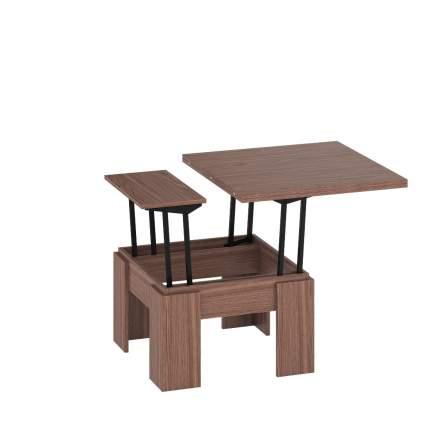 Журнальный столик Delice Бета 1668004 80(160)х80х47,5(81,5) см, ясень шимо тёмный