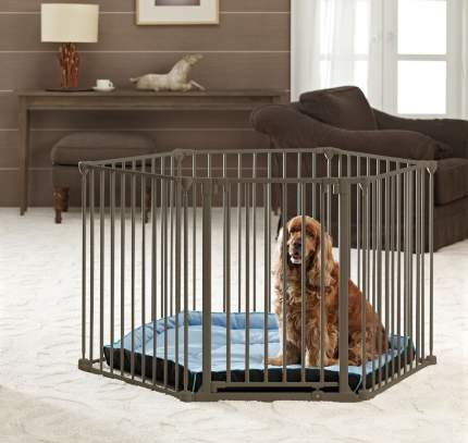 Вольер SAVIC Dog Park De Luxe,диаметр 120 см,высота 75 см,шестисекционный,с лежаком,дверью