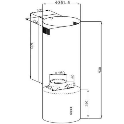 Вытяжка кухонная MAUNFELD LEE SIDE (C) 39  White