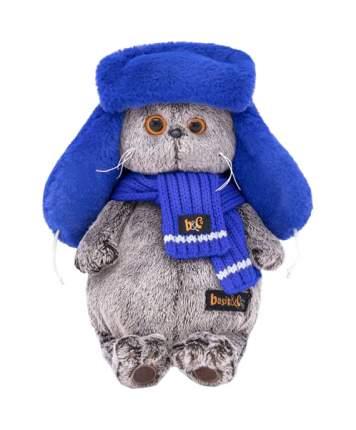 Мягкая игрушка BUDI BASA Уууххх...Холодно Басик В Меховой Шапке, 19 см