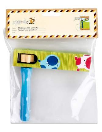 Интерактивная игрушка Mapacha Трещотка круговая зеленая/синяя 76433