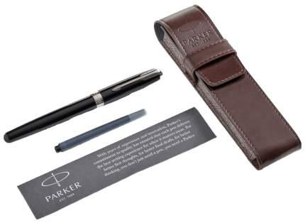 Набор подарочный Parker Sonnet - LaqBlack CT, перьевая ручка, M + чехол