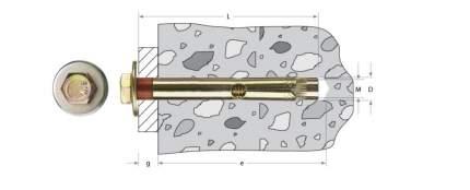 Анкерный крепежный Зубр 10х100мм ТФ2 20шт