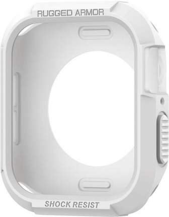 Чехол Spigen Rugged Armor (061CS24482) для Apple Watch series 4 40 mm (White)