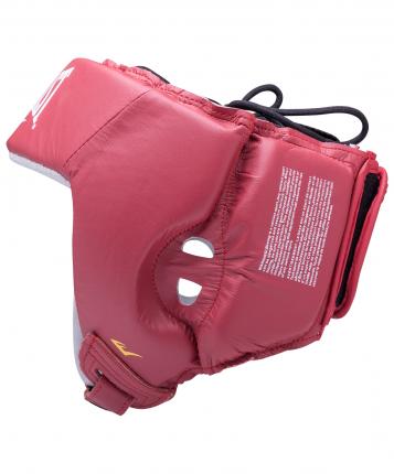 Шлем открытый Everlast USA Boxing 610200U, M, кожа, красный