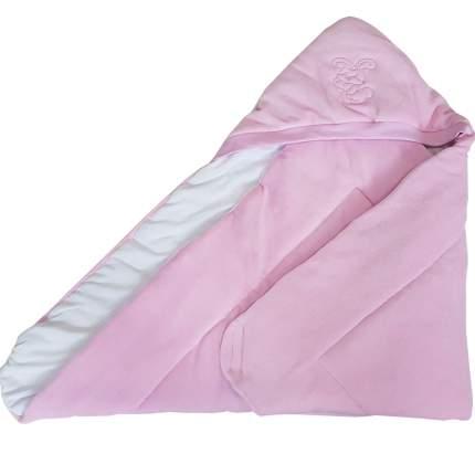 Конверт-одеяло Папитто велюр с вышивкой Розовый 2157