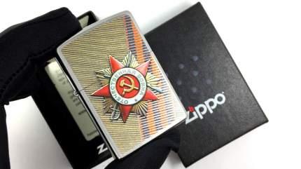 Зажигалка Zippo Order of Patriotic War Street Chrome