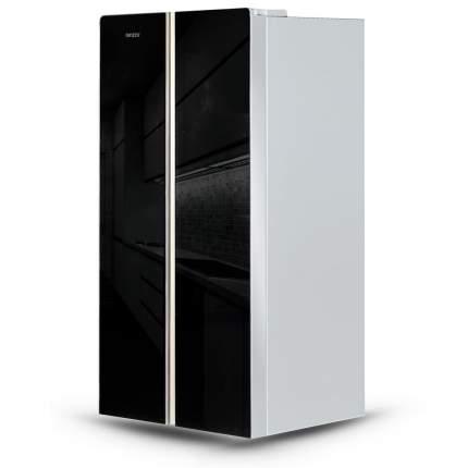 Холодильник Side-by-Side Ginzzu NFK-452 WiFi Black Glass