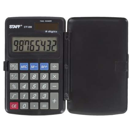 Калькулятор Staff STF-899, 8 разрядов, двойное питание, 117х74 мм