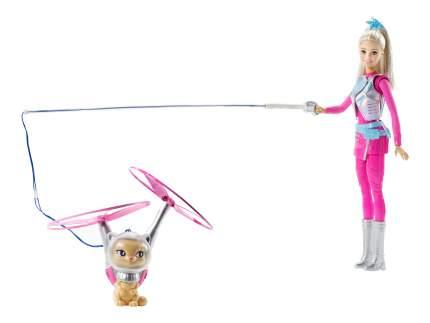 Кукла Barbie с летающим котом Попкорном из серии Barbie и космические приключения