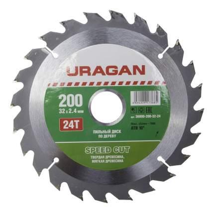 Пильный диск по дереву  Uragan 36800-200-32-24