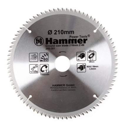 Пильный диск по алюминию  Hammer Flex 205-301 CSB AL (30681)