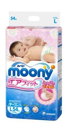 Подгузники Moony эконом L (9-14 кг), 54 шт.