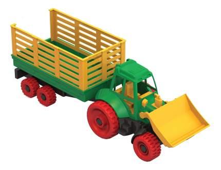 Трактор Нордпласт с грейдером и прицепом