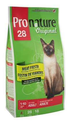 Сухой корм для кошек Pronature Original Мясной праздник, цыпленок, лосось, ягненок, 2,72кг