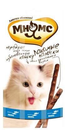 Лакомство для кошек МНЯМС Лакомые палочки с лососем и форелью, 13,5см 15г 3шт