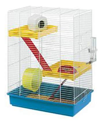 Клетка для хомяков Ferplast Hamster Tris, в ассортименте, 58х29х46 см