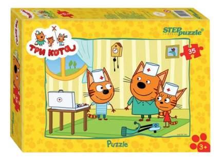 Пазл Step Puzzle Три кота 35 деталей