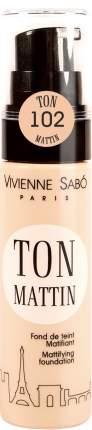 Тональный крем Vivienne Sabo Ton Mattin матирующий тон 102