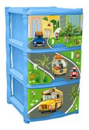 Комод детский Plastic Republic City Cars Tutti 3 ящика