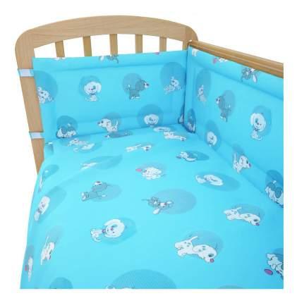 Комплект детского постельного белья Фея Наши друзья голубой