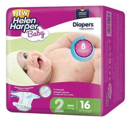 Подгузники для новорожденных Helen Harper Baby Mini (3-6 кг), 16 шт.