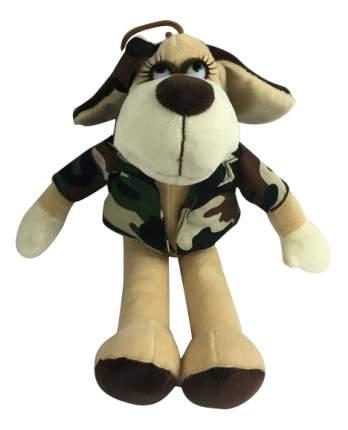 Мягкая игрушка Teddy Собака в камуфляжном костюме, 18 см