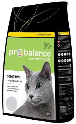 Сухой корм для кошек ProBalance Sensitive, при чувствительном пищеварении, 1,8кг