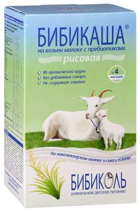 Молочная каша БИБИКОЛЬ БИБИКАША Рисовая на козьем молоке с 4 мес 200 г