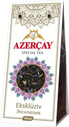 Чай черный Азерчай эксклюзив с бергамотом, цветками василька, сафлора 100 г