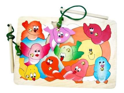 Развивающая игрушка игра-пазл магнитная Птичий переполох, 21 элемент Крона143-026
