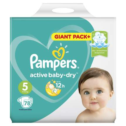 Подгузники Pampers Active Baby-Dry 5 (11-18 кг) - 78 шт