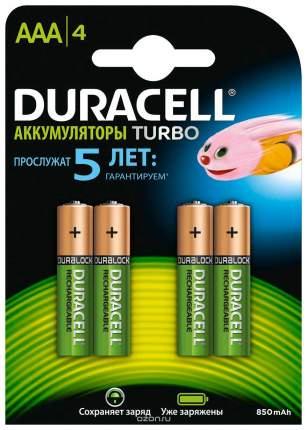 Аккумуляторная батарея Duracell Turbo AAАHR03 4 шт