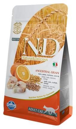 Сухой корм для кошек Farmina N&D, низкозерновой, треска и апельсин, 0,3кг
