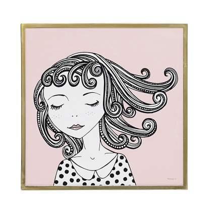 Постер в раме Bloomingville Dreamy girl DD00570