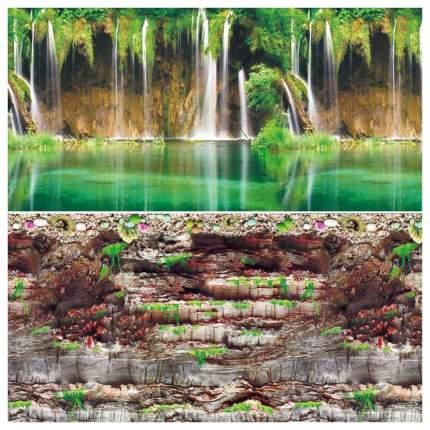 Фон для аквариума Laguna  Скалистая стена/Водопад на Амазонке 567 г размер 30х1500 см