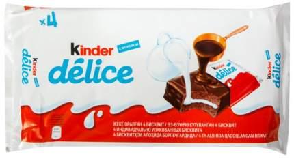 Бисквитное пирожное delice Kinder с молочной начинкой 39 г 4 штуки