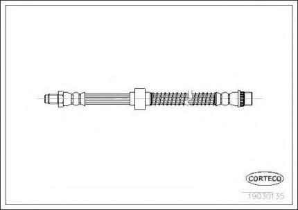 Шланг тормозной Corteco 19030135