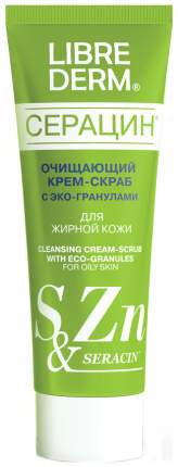 Скраб для лица Librederm Серацин с эко-гранулами 75 мл Белый